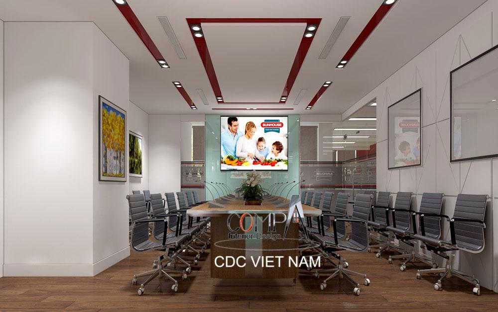 Thiết kế thi công văn phòng tầng 11 Tập Đoàn Sunhouse