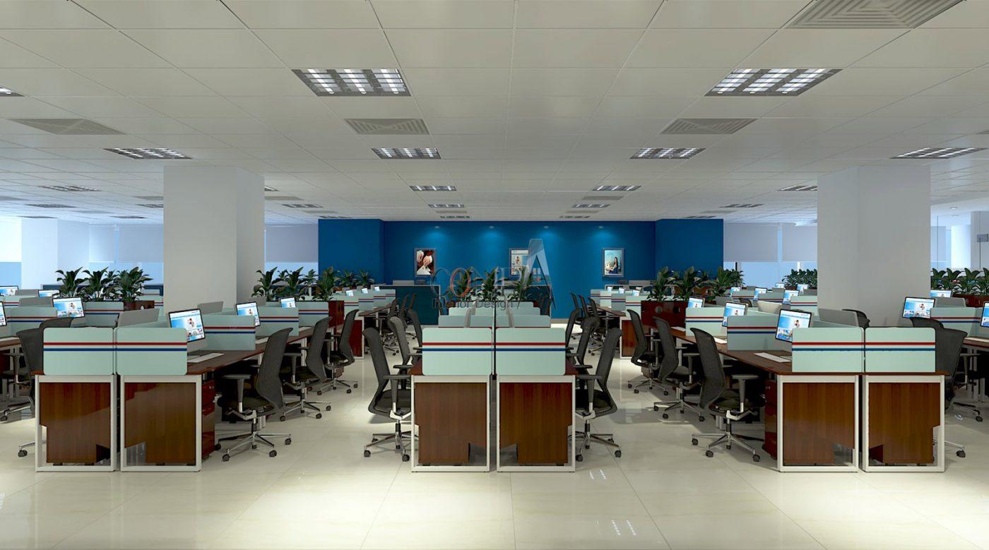 Thiết kế nội thất văn phòng Bảo Hiểm VIETINBANK