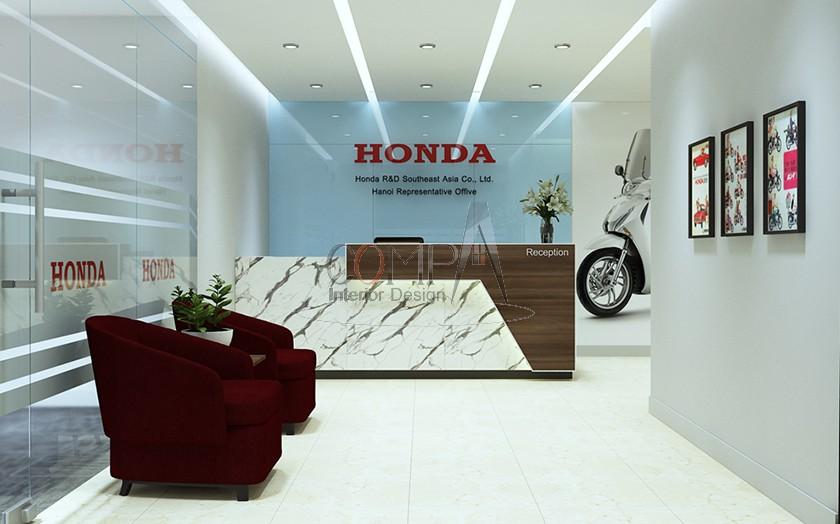 Thiết kế và thi công văn phòng Công ty HONDA
