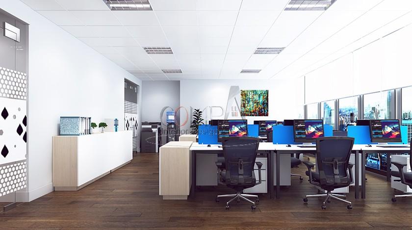 Thiết kế và thi công dự án văn phòng CRYSTAL BAY