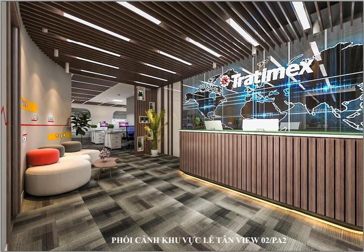 Thiết kế nội thất văn phòng Công ty Tratimex